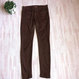 MOTHER Faux Suede The Looker Texas Rein  Skinny 27